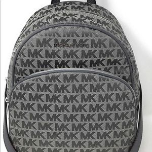 Michael Kors md jacquard grey backpack